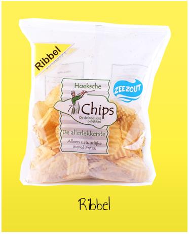 Hoeksche Chips Zeezout Ribbel