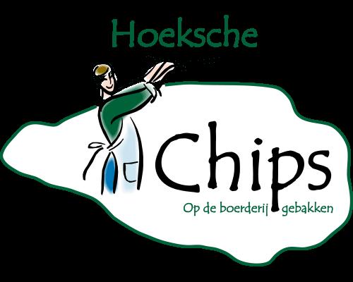 Logo Hoeksche Chips wit